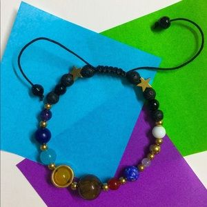 Adjustable Solar System Bracelet - Natural Stones